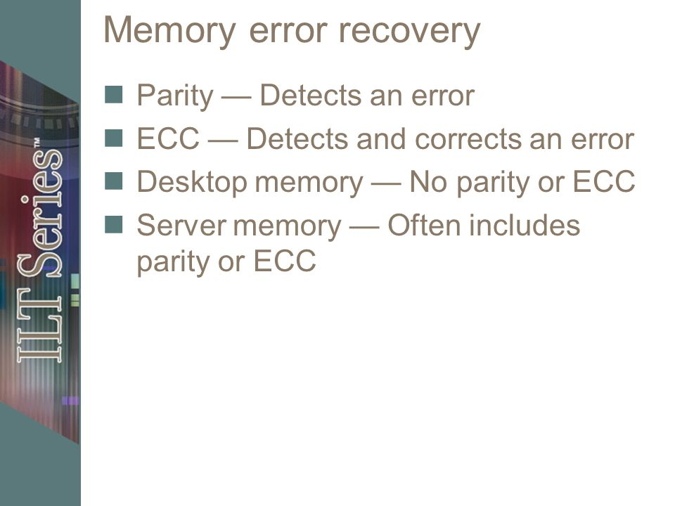 Memory systems Unit objectives Describe the function of memory and
