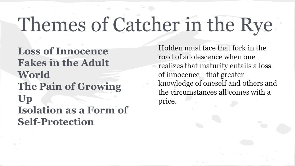 Essay Proof Reading Catcher In The Rye Essay Loss Of Innocence Uk Essay also Health And Social Care Essays Catcher In The Rye Essay Loss Of Innocence J D Salinger Catcher  Essay On Existentialism