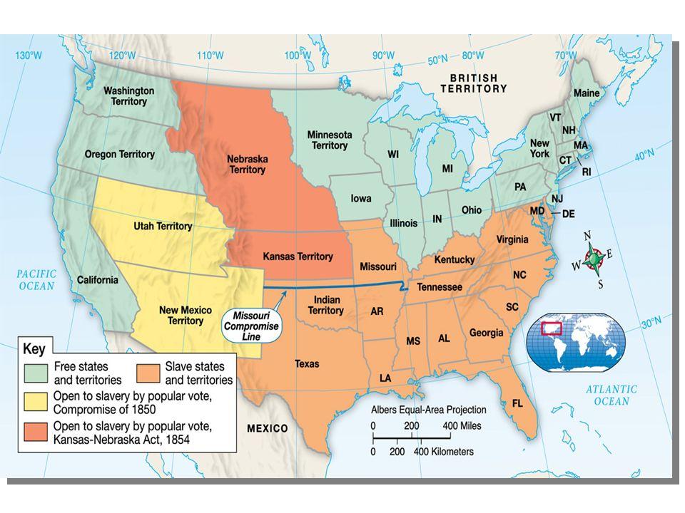Leading up to Kansas-Nebraska Act Compromise of 1850 dealt w ...
