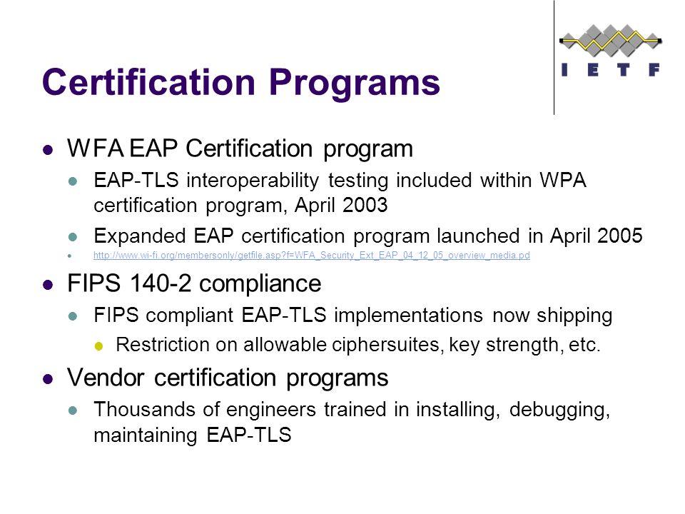 EMU BOF EAP-TLS Experiment Report RFC 2716 Bernard Aboba Microsoft ...