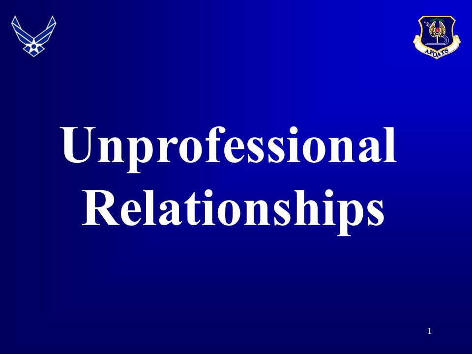 Unprofessional relationships ucmj