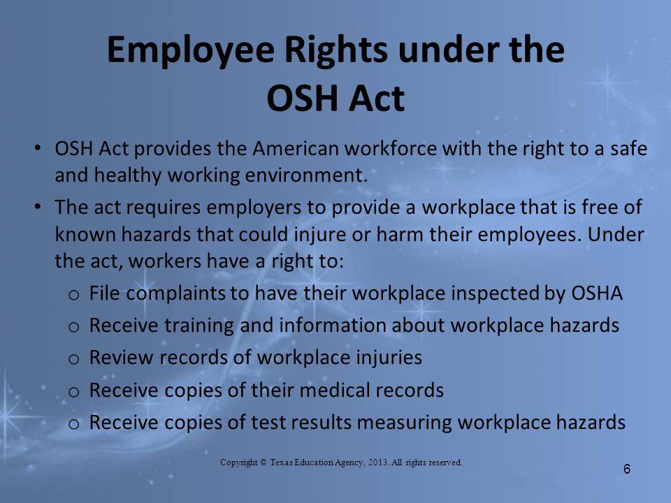OSHA - Workers Rights - 2013