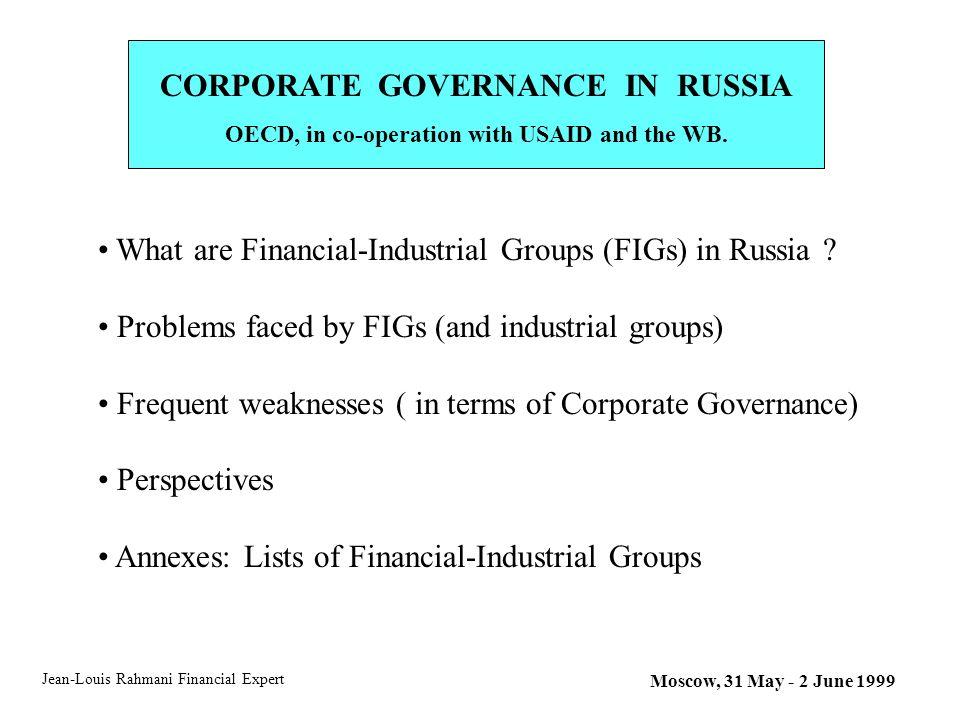 corporate governance problems