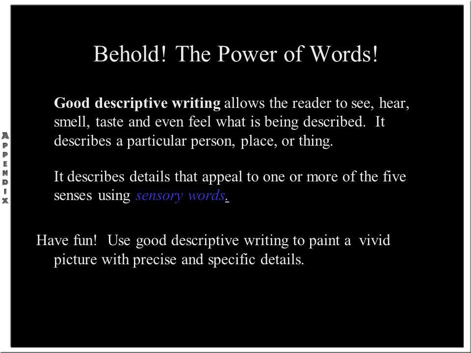beautiful descriptive writing