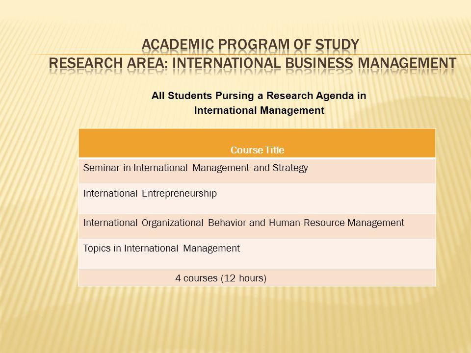 Course StructureMinimum # Quantitative Research Methods