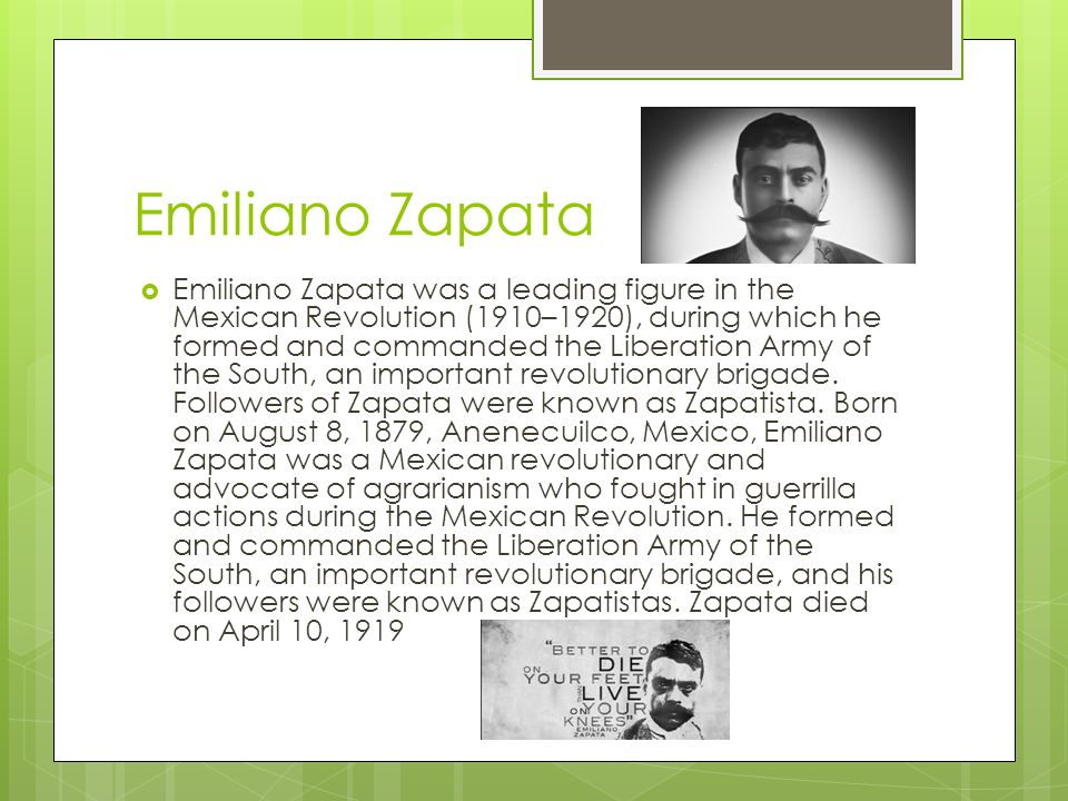 Image result for mexico's emiliano zapata was born