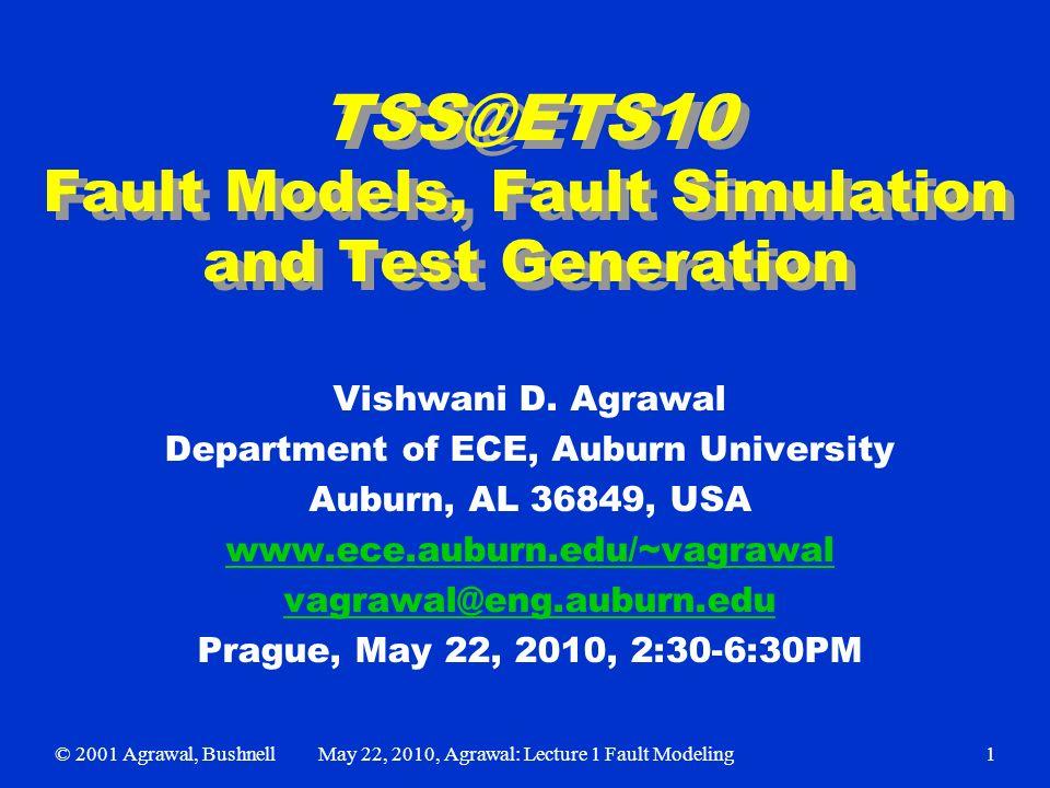 fault models fault simulation and test generation vishwani d rh slideplayer com