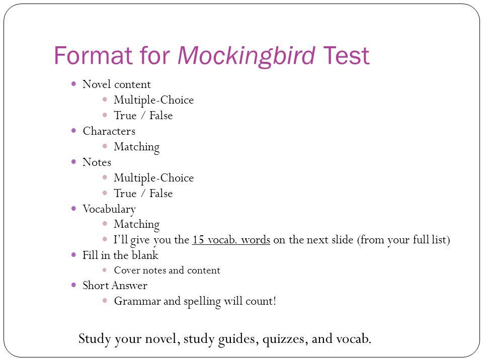 to kill a mockingbird exam answers