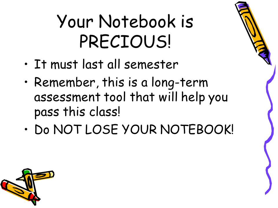 Your Notebook is PRECIOUS.