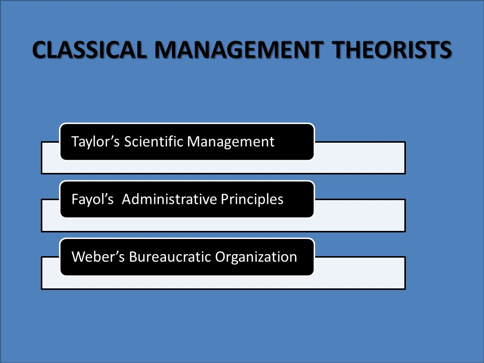classical management theory definition