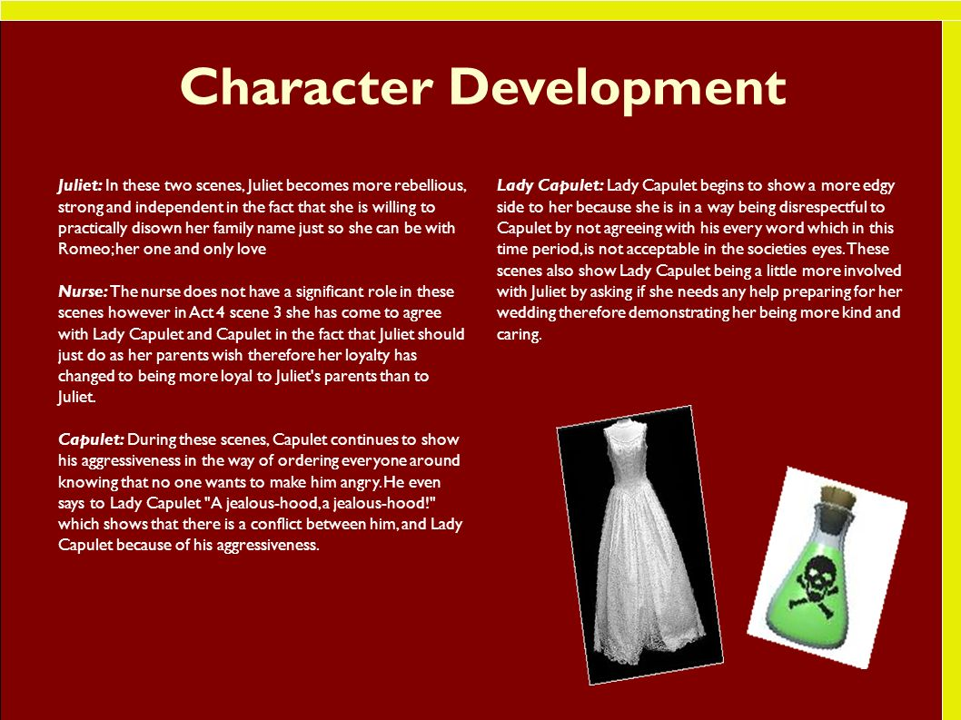 paragraph on character development