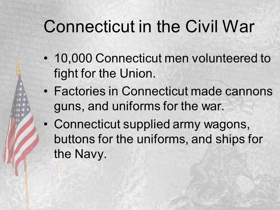 The Civil War The Connecticut Adventure Chapter ppt download