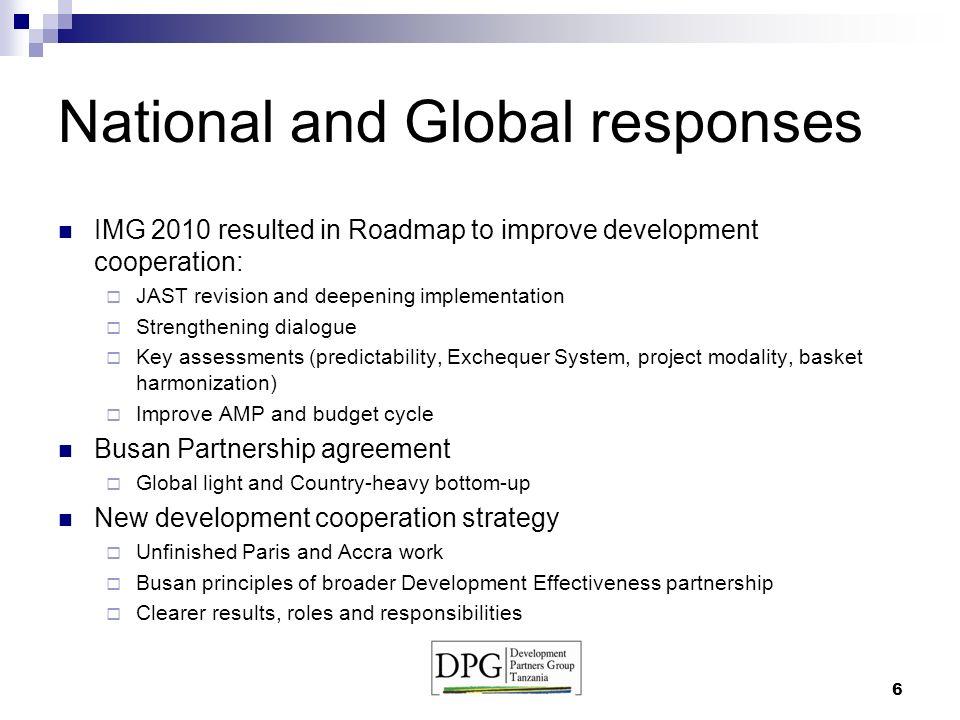 Development Partners Group Coordination Mechanism For Harmonization