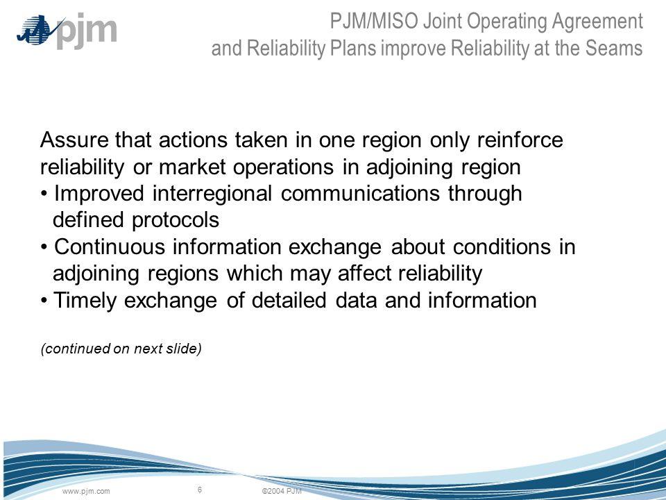 2004 Pjmpjm 1 Pjms Perspective On Reliability Summer 2004