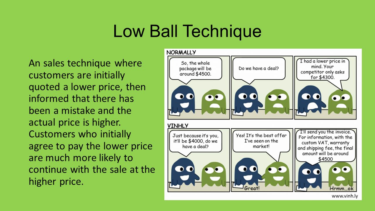 where did the term low ball come from