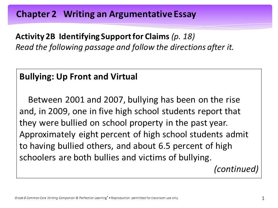argumentative essay for grade 8