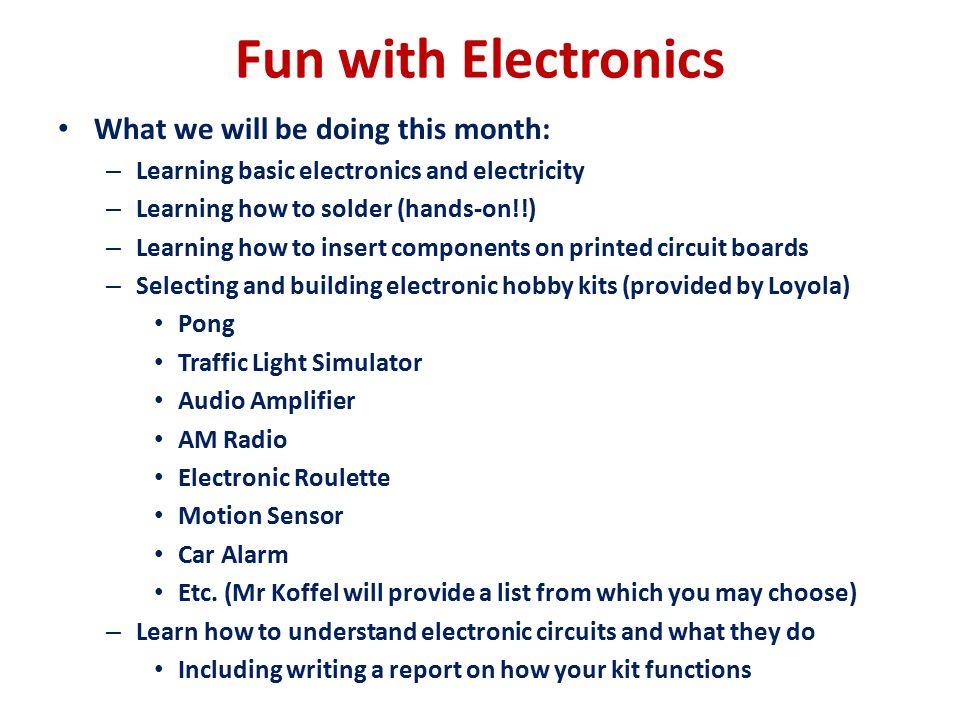 Electronics Loyola Blakefield Introduction to Engineering February 3 ...