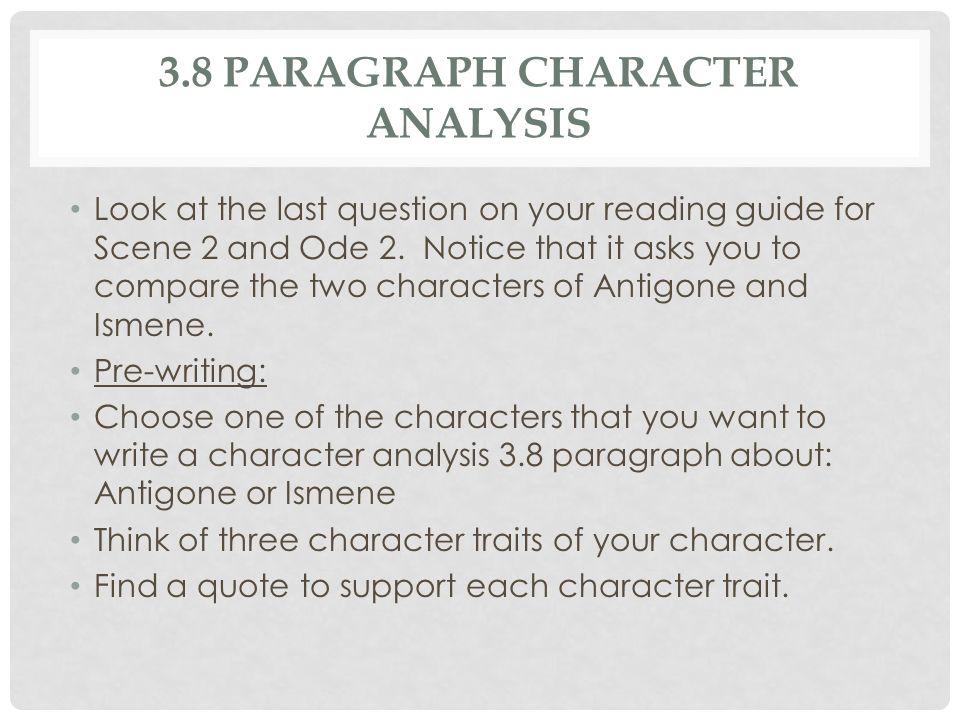 character analysis paragraph