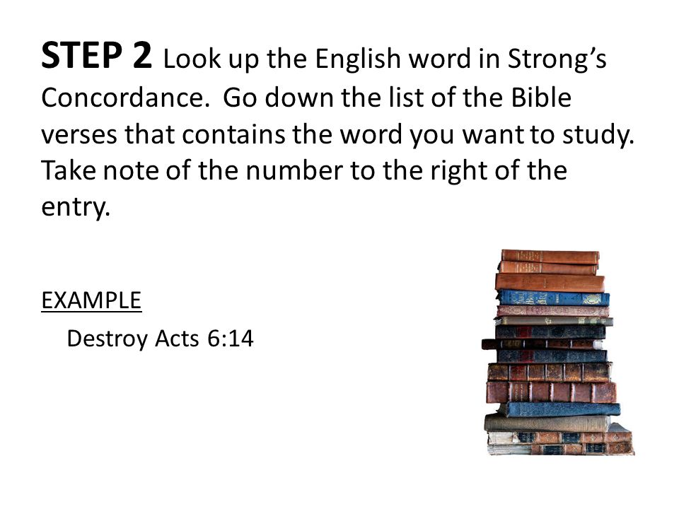 How To Do A Bible Word Study Using Strong's Concordance as a