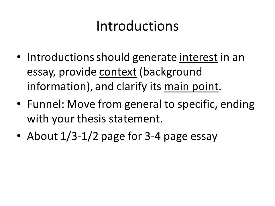 How To Start A Proposal Essay Introductions Introductions Should Generate Interest In An Essay Provide  Context Background Information Essay On Healthy Eating Habits also Research Proposal Essay Example Introductions Introductions Should Generate Interest In An Essay  Essay On Modern Science