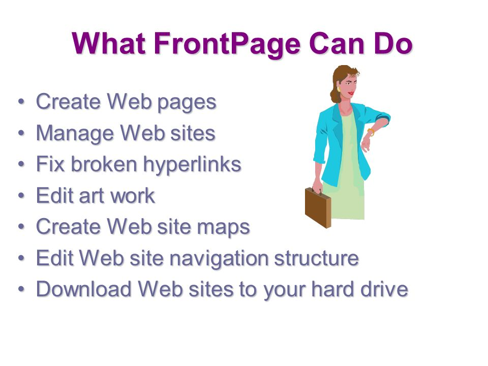 introduction to microsoft frontpage microsoft frontpage frontpage