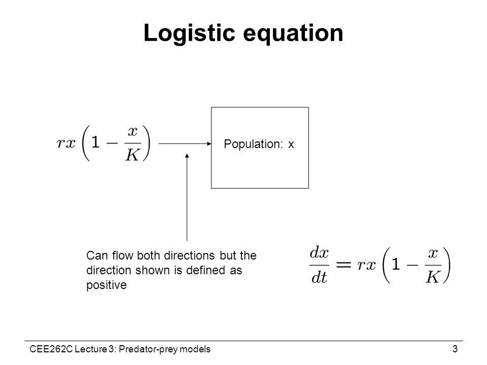 CEE262C Lecture 3: Predator-prey models1 CEE262C Lecture 3: The