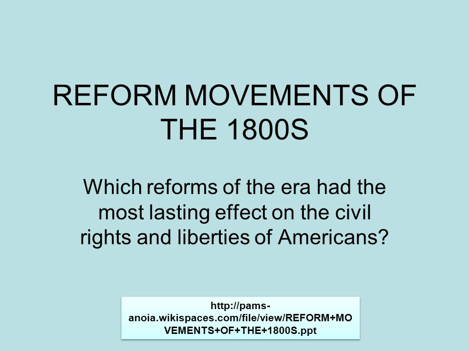 reform movements of the late 1800s In the reform movements, it refers to people moderating their consumption (or total abstinence) of alcohol why was this an important issue drunks were not living up to society's expectations what was the affect of the 80 temperance movement 60 70 50 40 gallons per capita 30 20 10 0 1800.