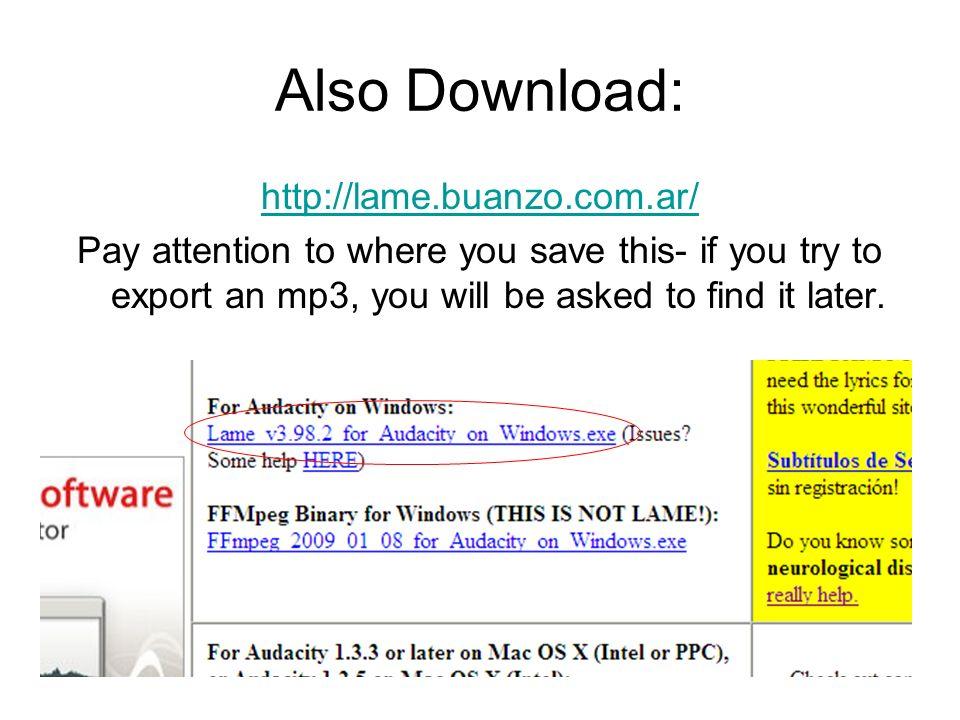 Audacity AP Spanish  Installing Audacity - ppt download