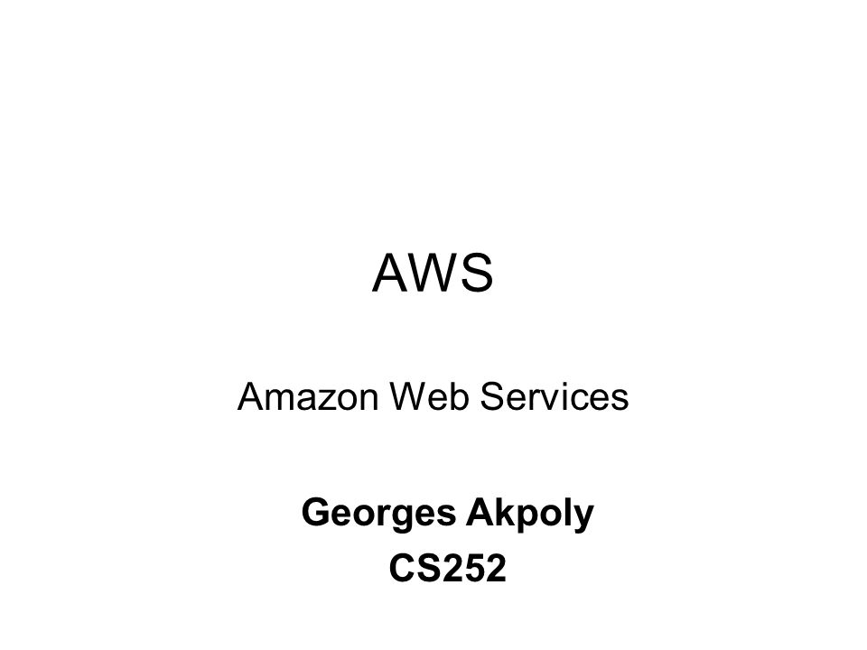 Introduction to amazon web services (aws) ppt video online download.