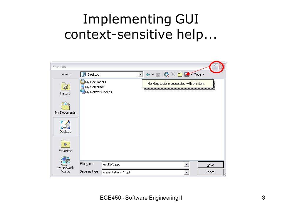 ECE450 - Software Engineering II1 ECE450 – Software Engineering II