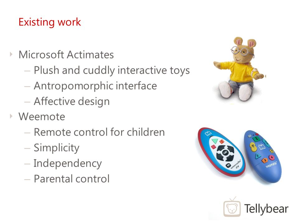 Tellybear Remote Control For Young Children Overview Problem