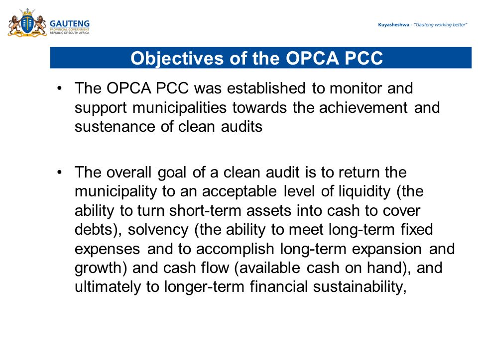Presentation on OPCA and Governance support to Gauteng