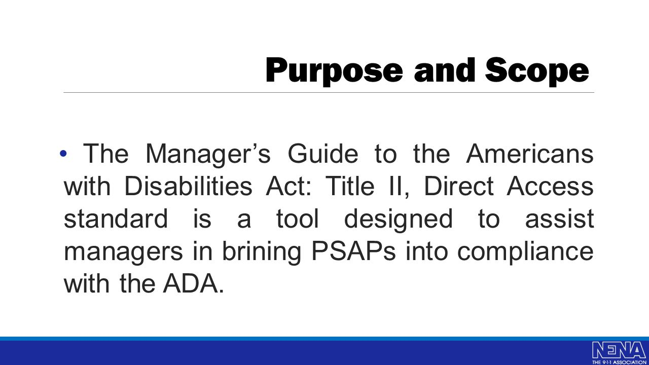 a manager s guide to ada title ii richard ray donna platt ppt rh slideplayer com Environmental Compliance Manager manager's guide to compliance