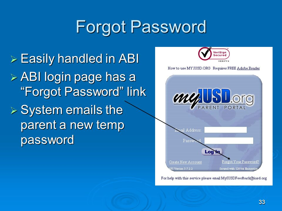 1 Aeries Browser Interface Parent (& Student) Account