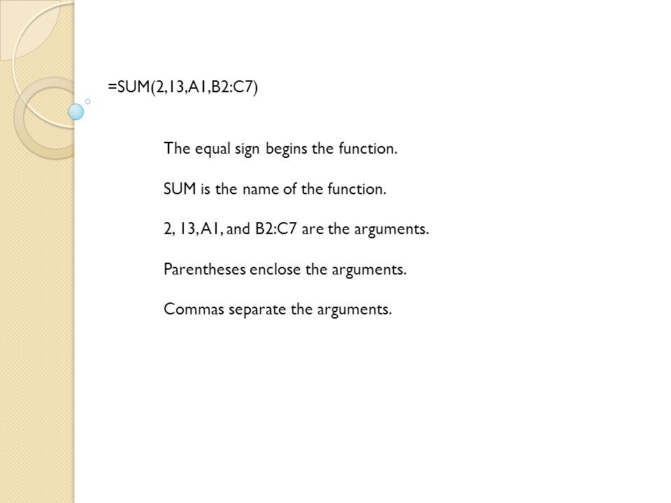 Functions Are Prewritten Formulas 3 The