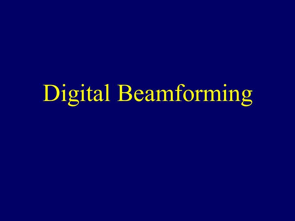 Digital Beamforming  Beamforming Manipulation of transmit and
