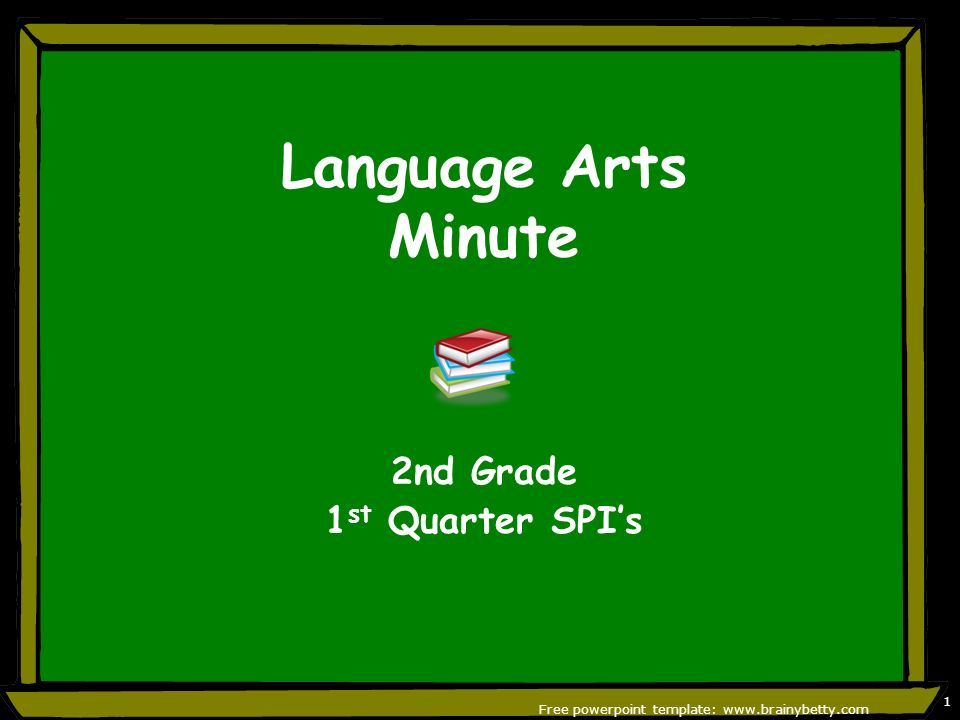 Language arts minute 2nd grade 1 st quarter spis free powerpoint 1 language arts minute 2nd grade 1 st quarter spis free powerpoint template brainybetty 1 toneelgroepblik Choice Image