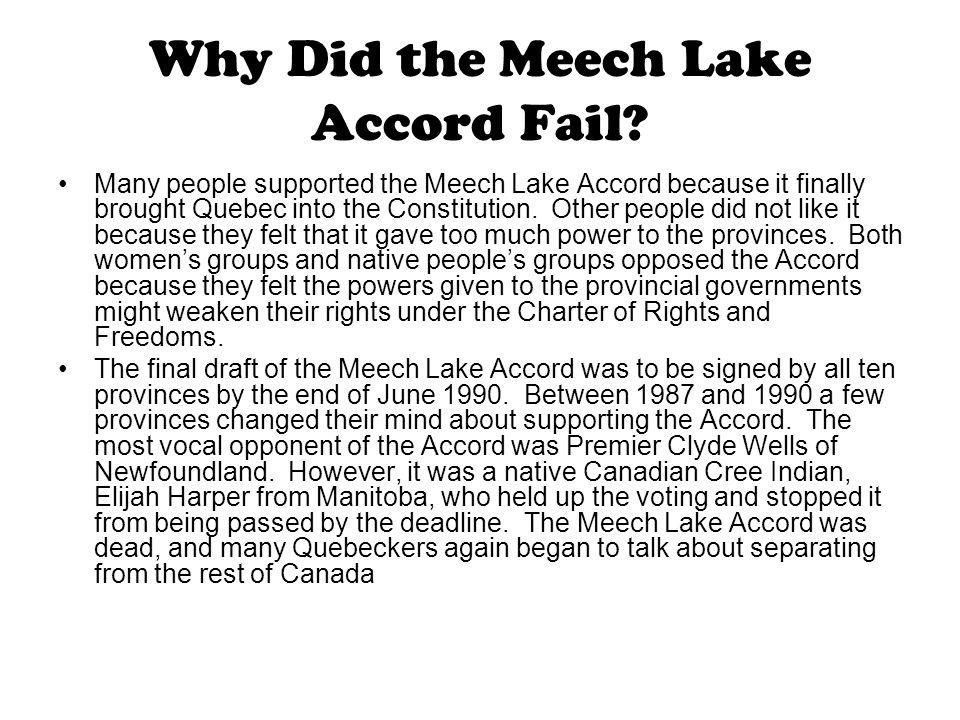 the meech lake accord