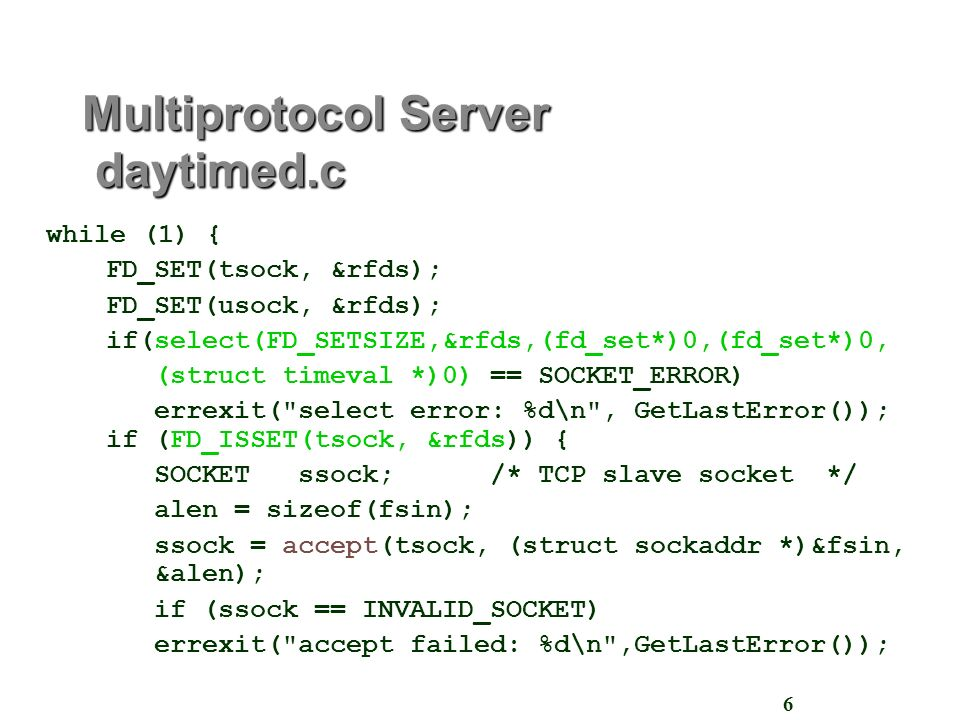 Example Servers Pt 2 Objective: To discuss key aspects of
