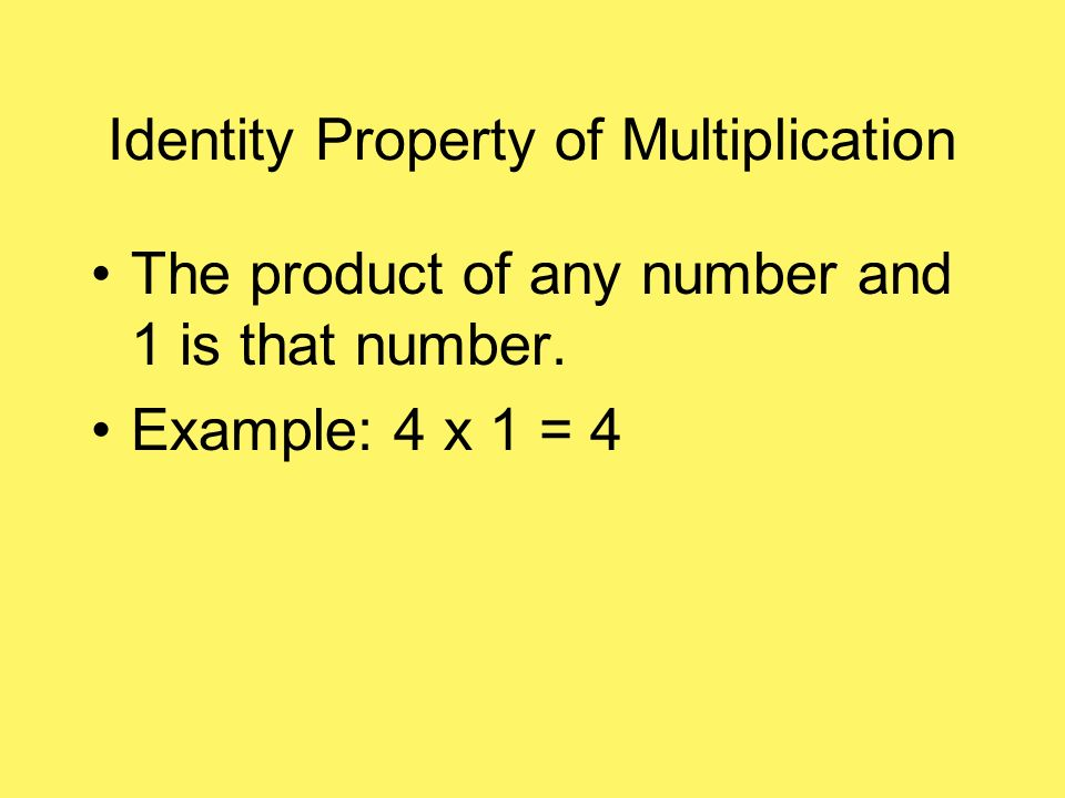 Associative Property of Multiplication You can change the grouping of factors Example: ( 5 x 2) x 3 = 5 x (2 x 3)
