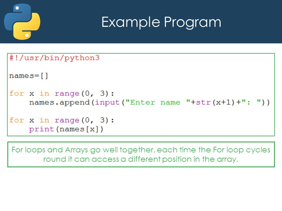 Python Arrays An Array Is A Variable That Stores A Collection Of