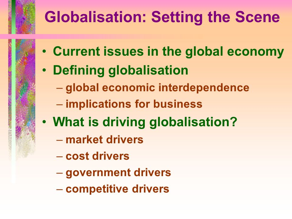 global economic interdependence definition