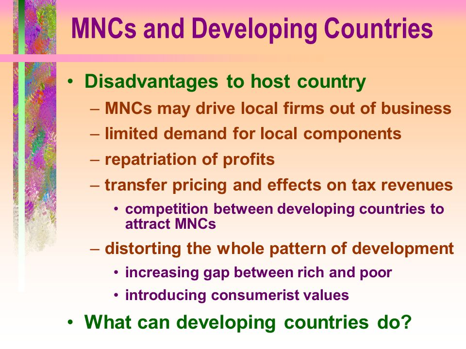 impact of multinational companies on the host country pdf