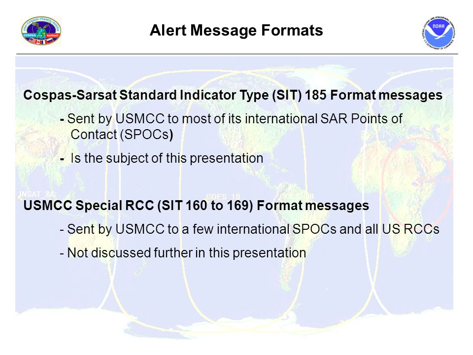 Alert Message Formats for SAR ...