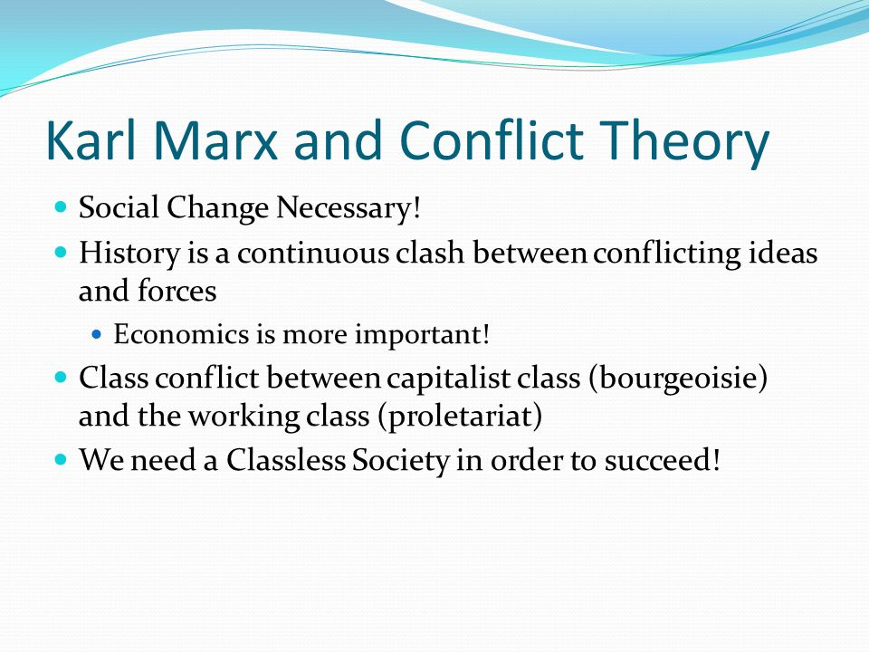 marx theory of social change