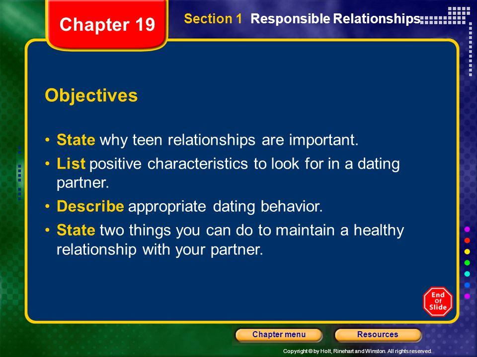 responsible dating behavior