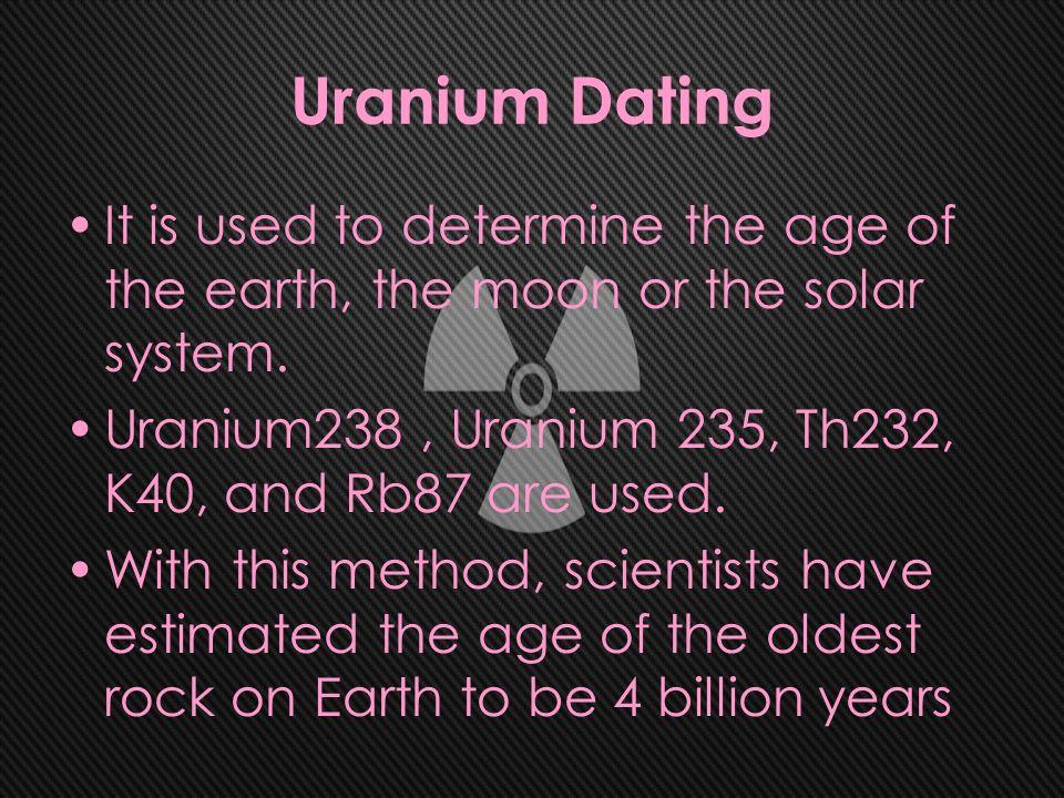 uranium dating method