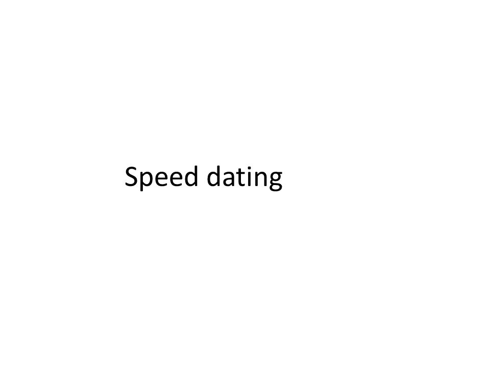 Speed dating mechanics