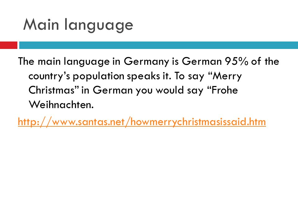 main language the main language in germany is german 95 of the countrys population speaks - Merry Christmas In German How To Say