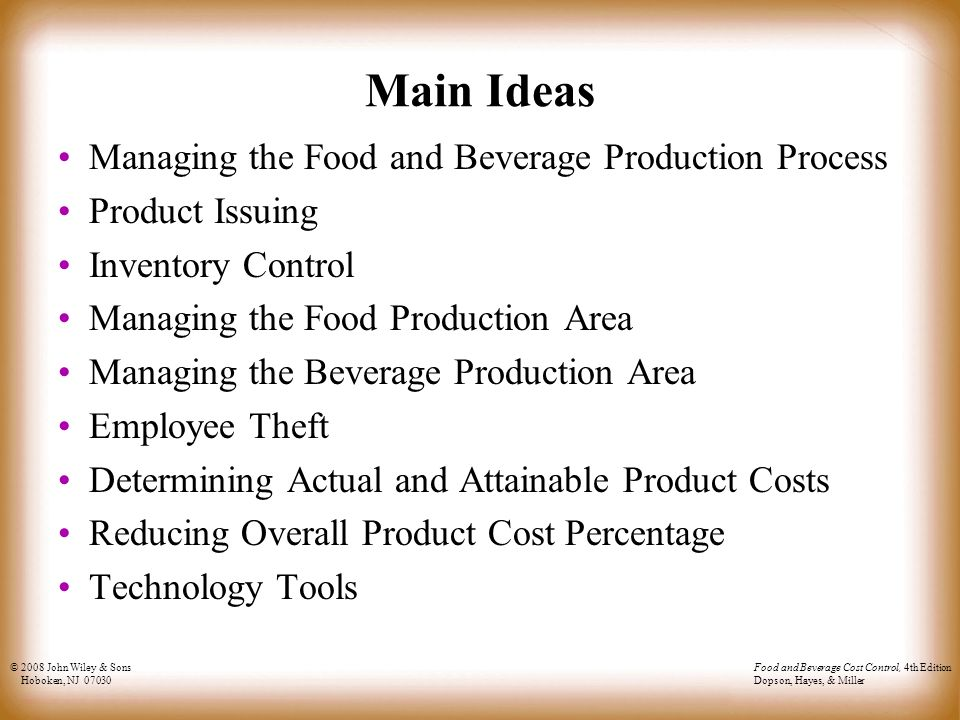 factors that impact planning, managing and control of food and beverage operations A well-researched guess at the trends and other things that could impact the food & beverage  and they are planning to  food and beverage companies.